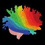 colored brain image